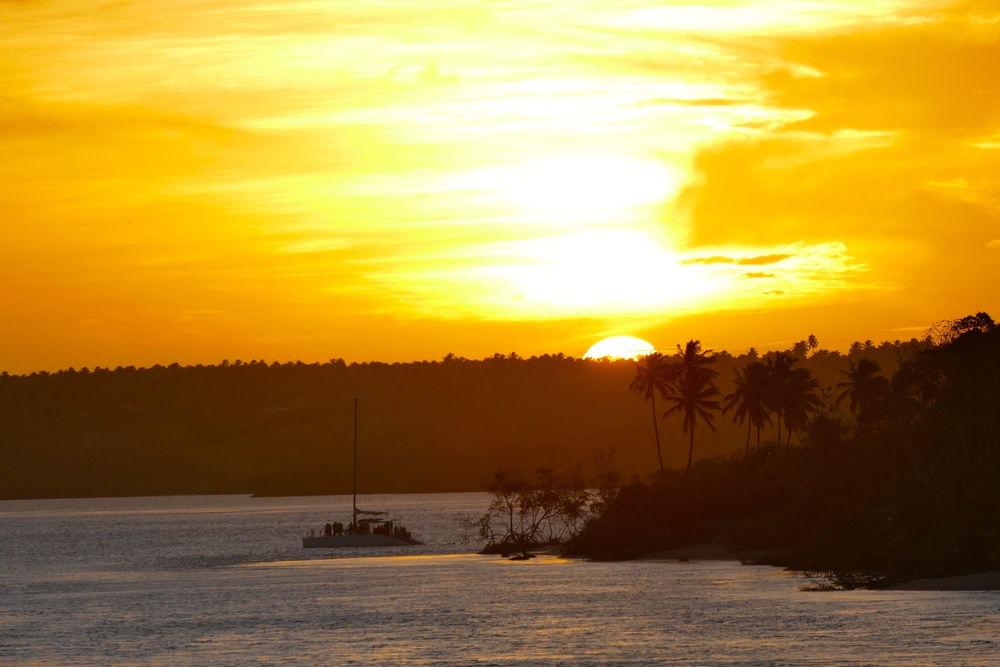 Coucher de Soleil sur la Lagune de Tibau do Sul