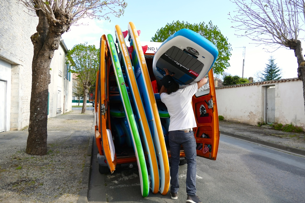 Le camion orange Papaï Paddle vous retrouve sur 6 différents sites d'évolution