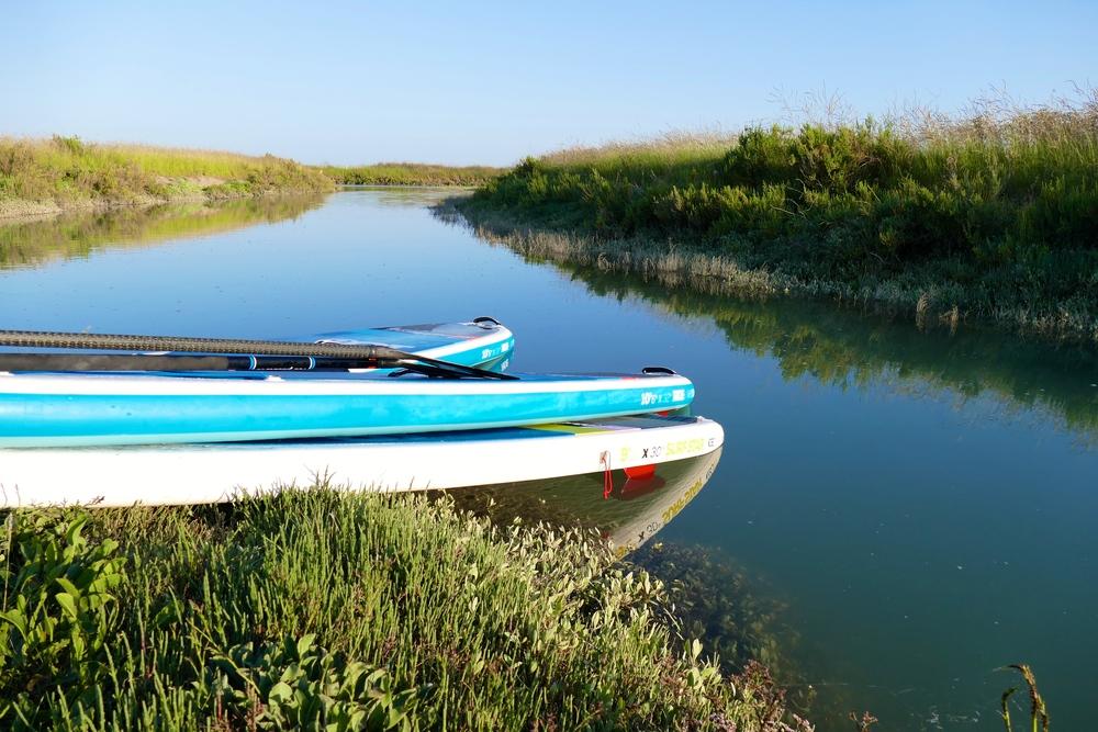 Balade stand up paddle marais charente maritime iledere
