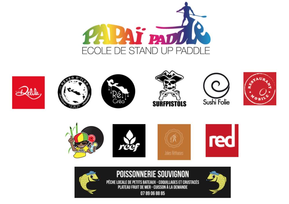 Les partenaires des Papaïades 2016, les Olympiades de Papaï Paddle