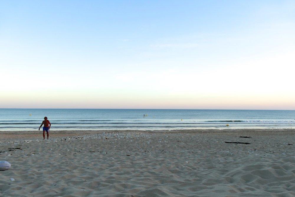 Coucher de soleil aux Gollandières sur l'Ile de Ré