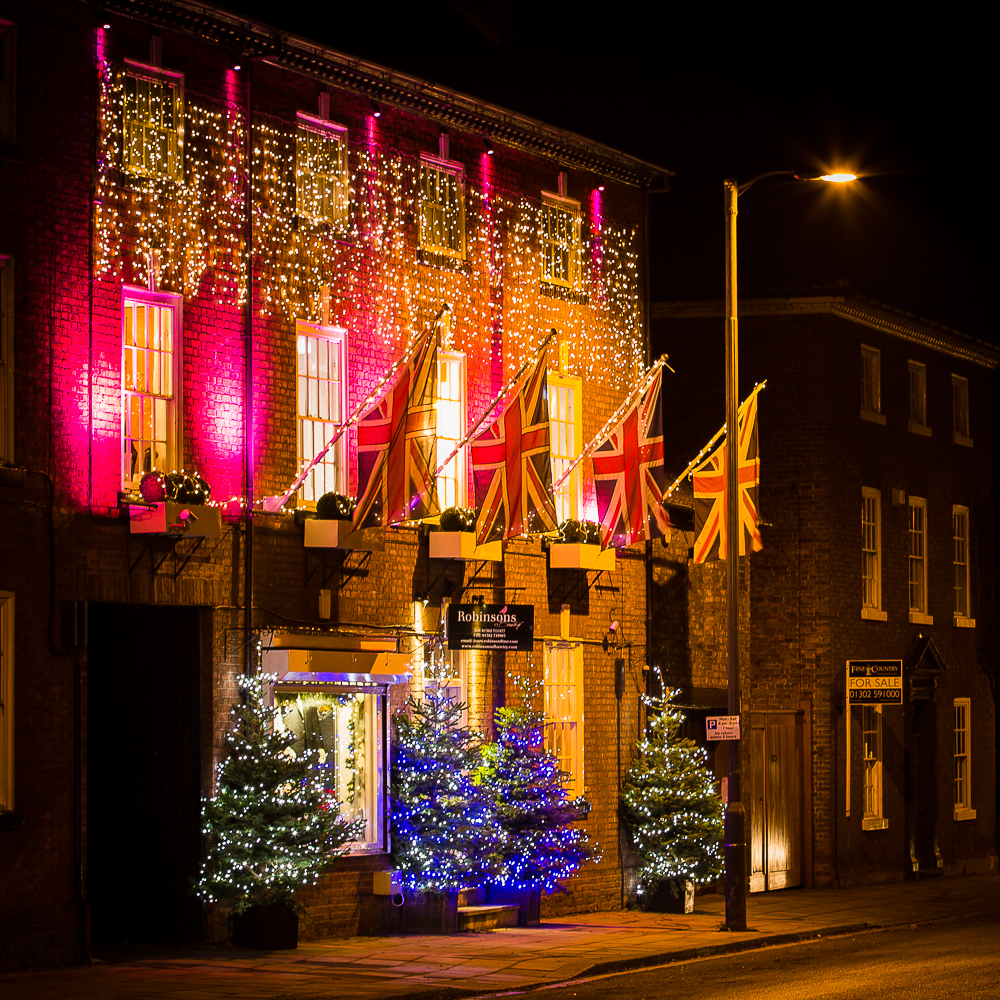 Robinsons of Bawtry Christmas Store Front 2013.