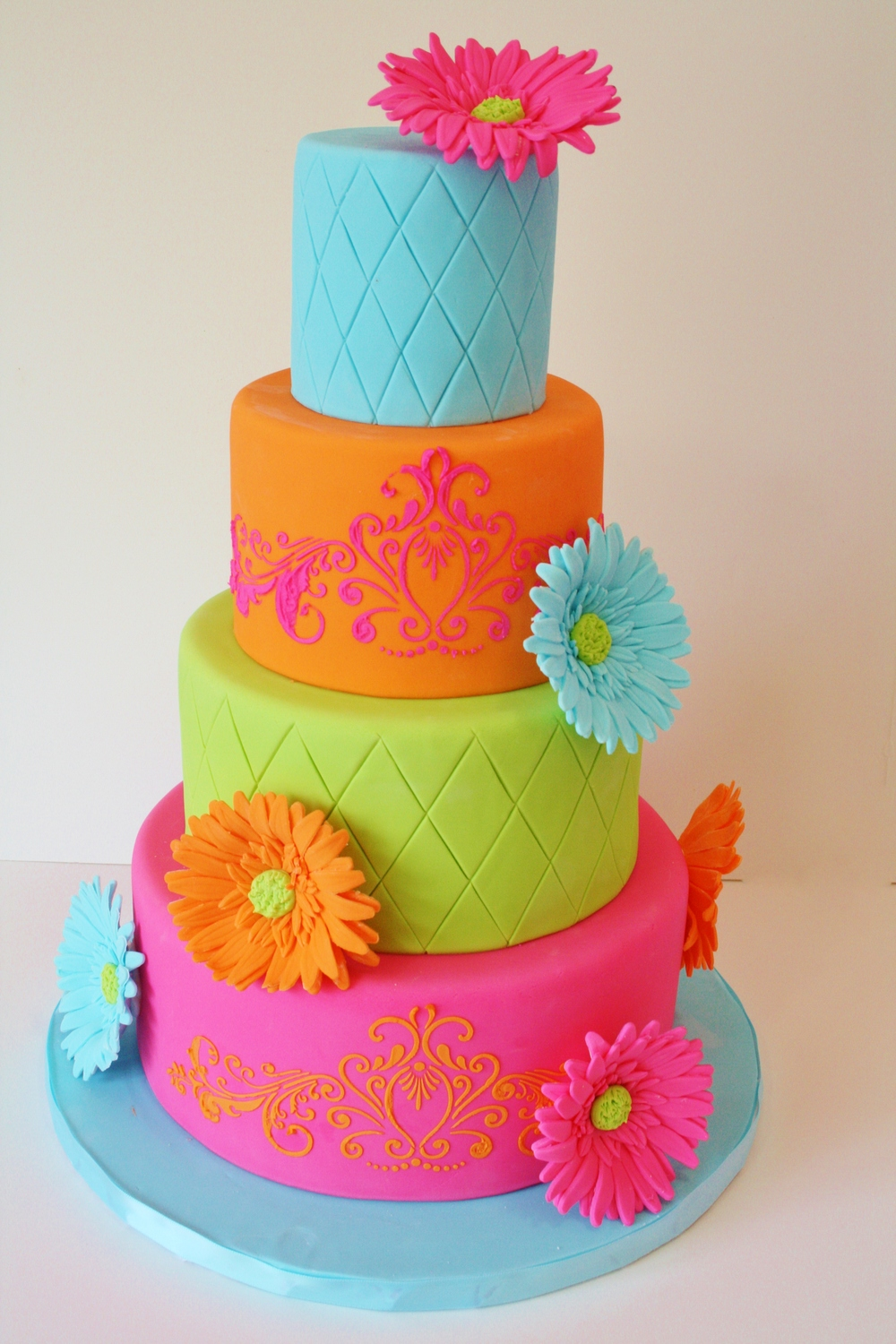 Birthday Cakes New Jersey - Bright Colors Tween Custom Cakes.JPG