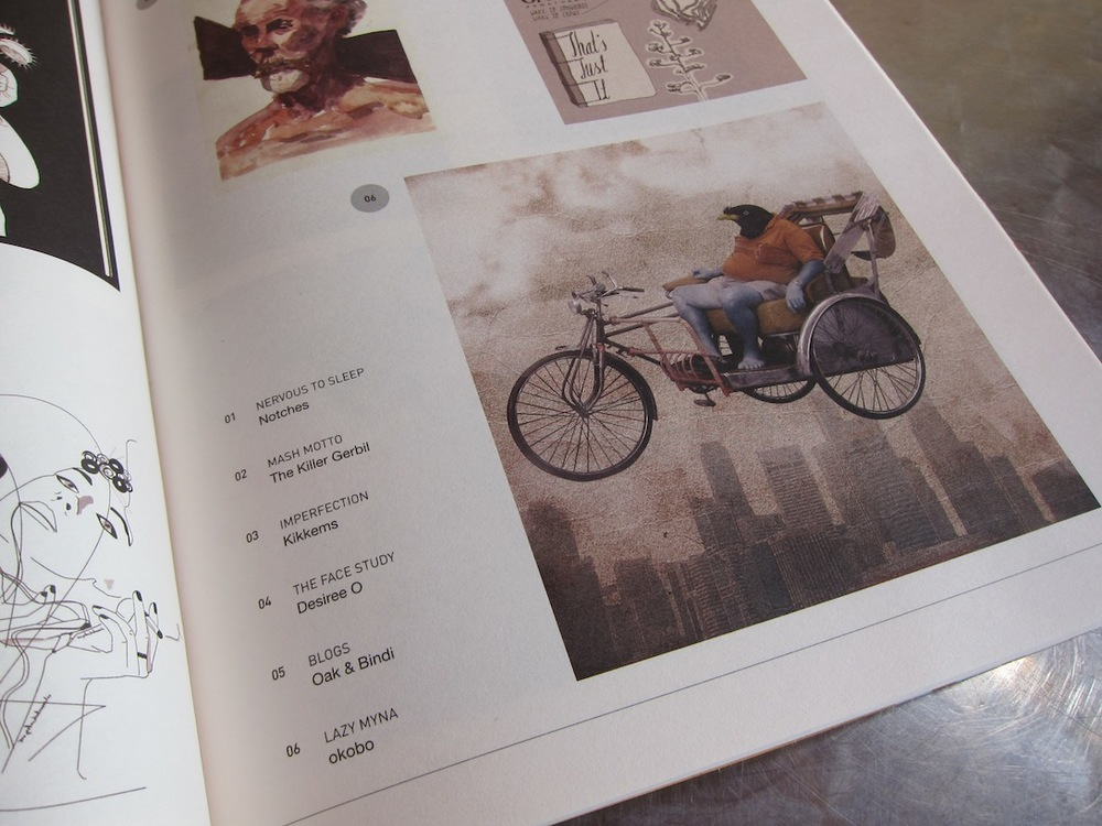 The peace Lazy Myna, featured in Noise Singapore Magazine 2012