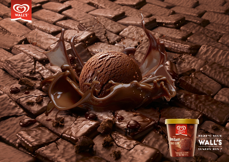Timtam and Walls came together to create such an awesome taste, and a visual.