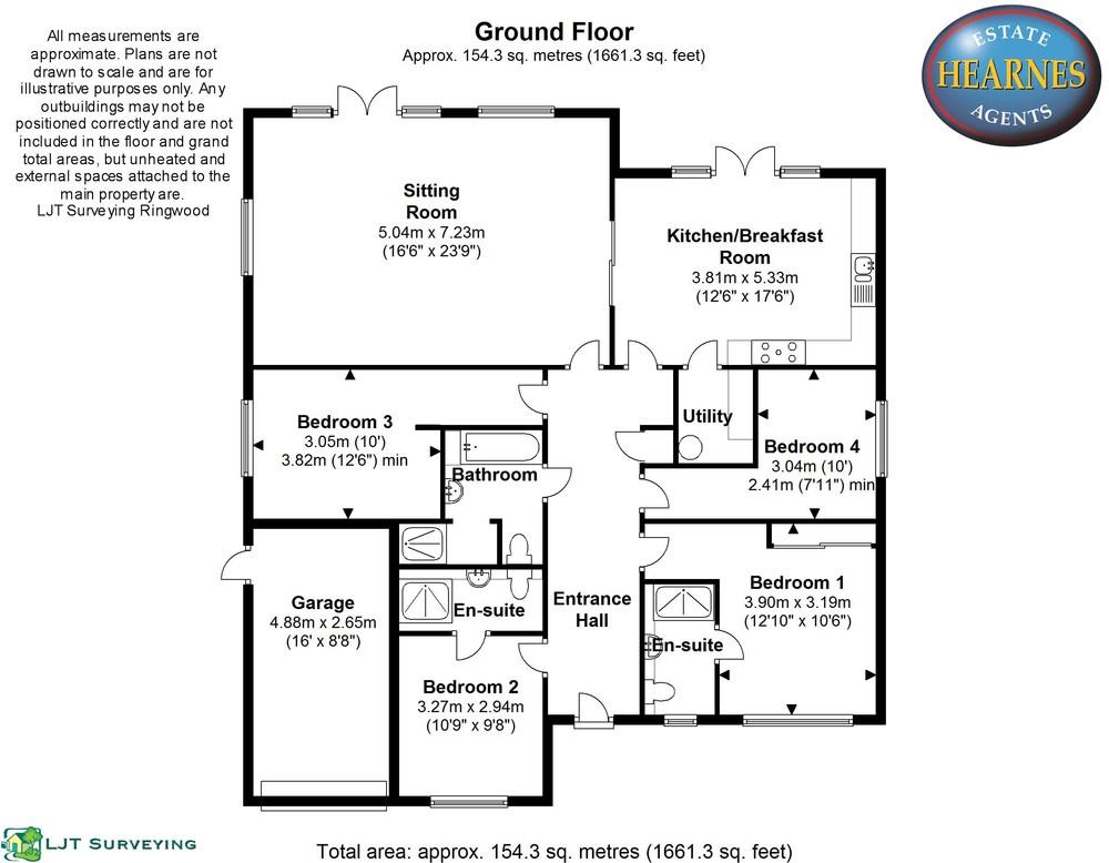 Unit 1 62 Oaks Drive BH24 - All Floors.JPG