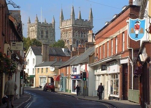Wimborne town centre