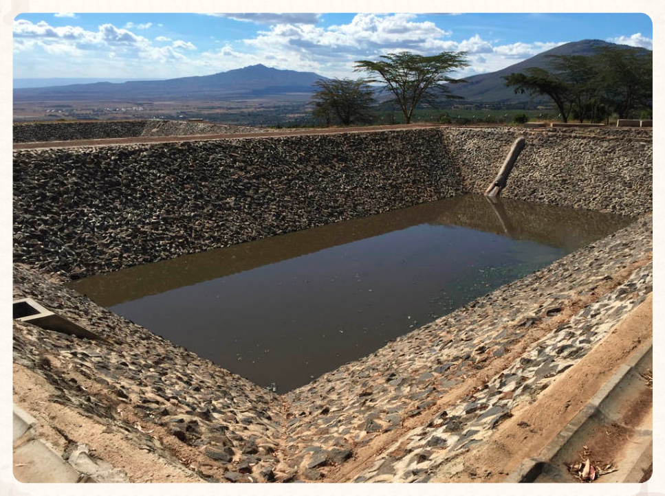 One of 3 Wastewater Treatment Ponds - Kijabe, Kenya