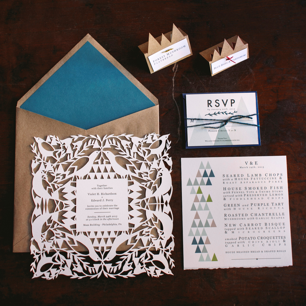 Birch tree Catering - Wedding Invitation Suite