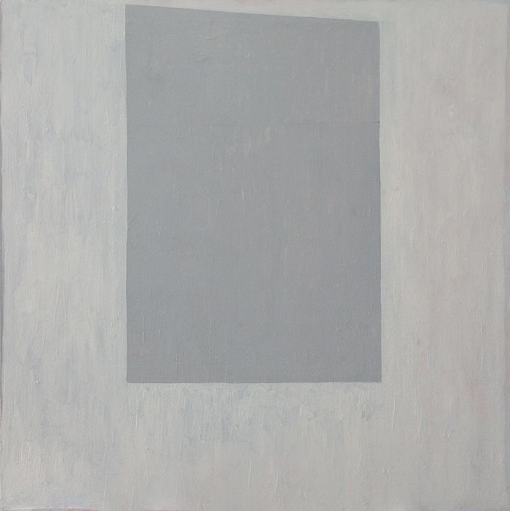 Forma Gris, oleo sobre lienzo, 80x80cms