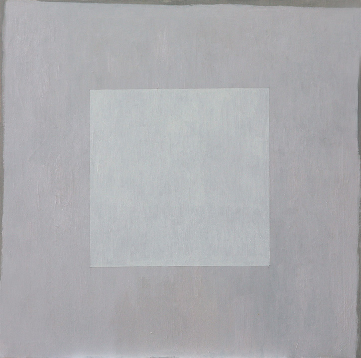 Cuadrado blanco, oleo sobre lienzo, 80x80cms