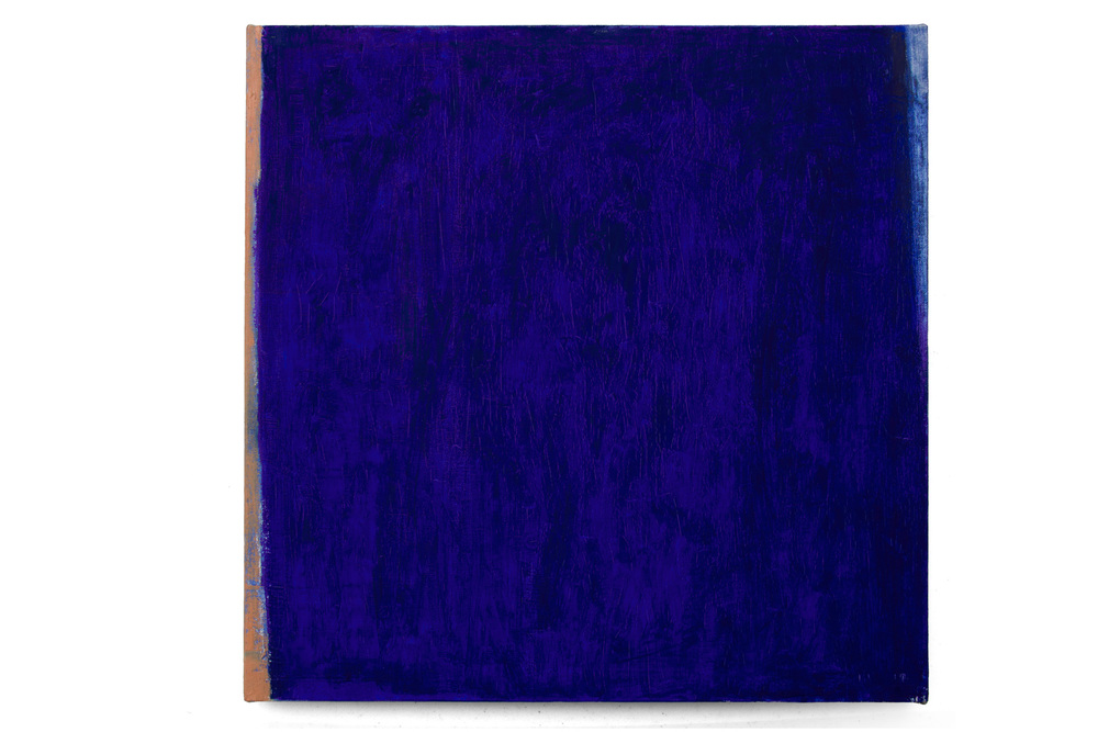 Azul ultramar, óleo sobre lienzo, 40 x 40 cms