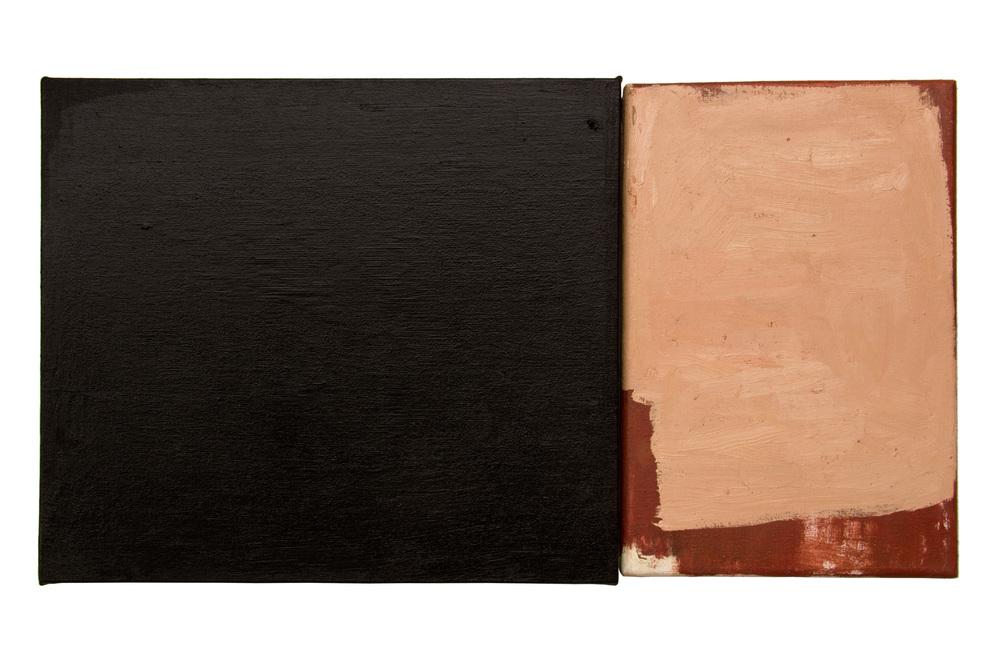 Dialogo 11, oleo sobre lienzo, 35 x 50 cms