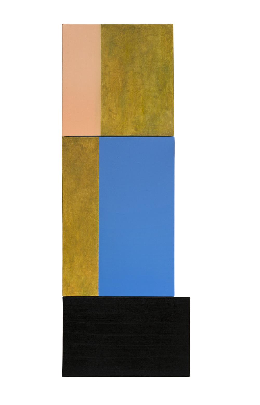 Composicion 1, Oleo sobre lienzo, 111 x 40 cms