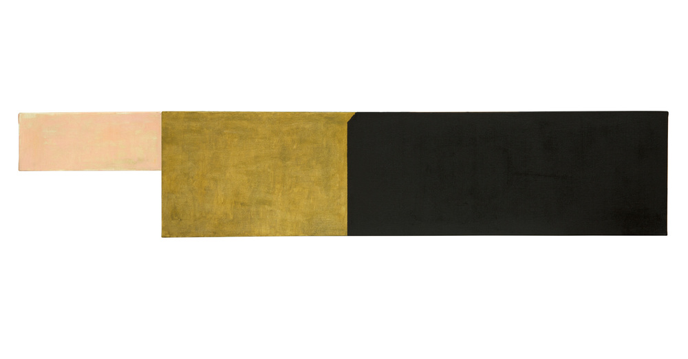 Composicion 2, Oleo sobre lienzo, 25 x 136 cms