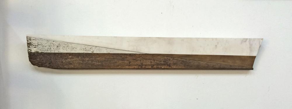 resistance 1, 15 x 103 cms, óleo sobre mármol y madera