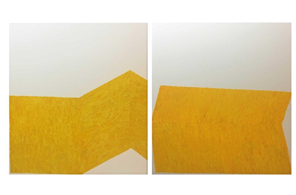 Gesture 7-8, 2 x (170 x 190 cms)