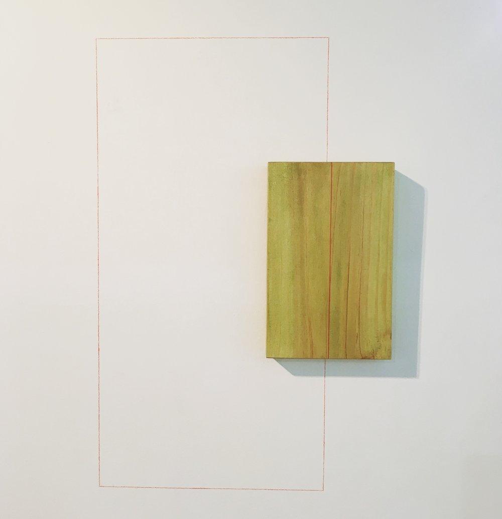Rectángulo rojo, 54 x 80 cms
