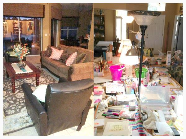My living room tranformed to Secret Lake Retreat
