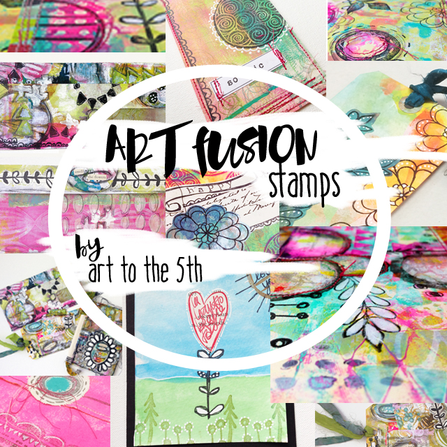 Art Fusion rubber stamps by A5! click image for details