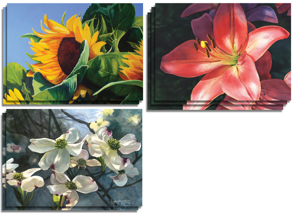 Floral Note Cards - $12
