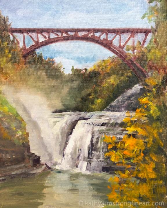 """""""Letchworth Park Upper Falls"""""""