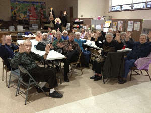 Double high-fives from the Woodbine Seniors group for Zelda's Show