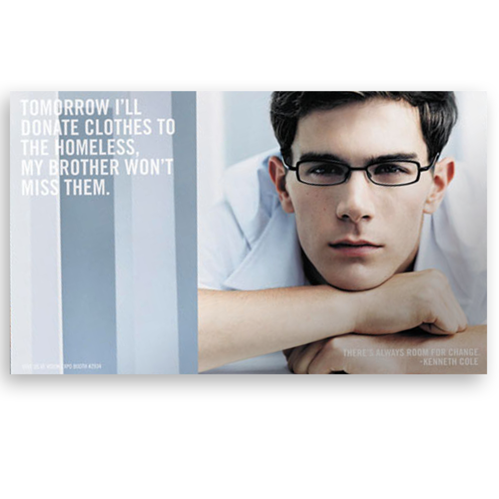 Kenneth Cole Eyewear Trade Advertisement