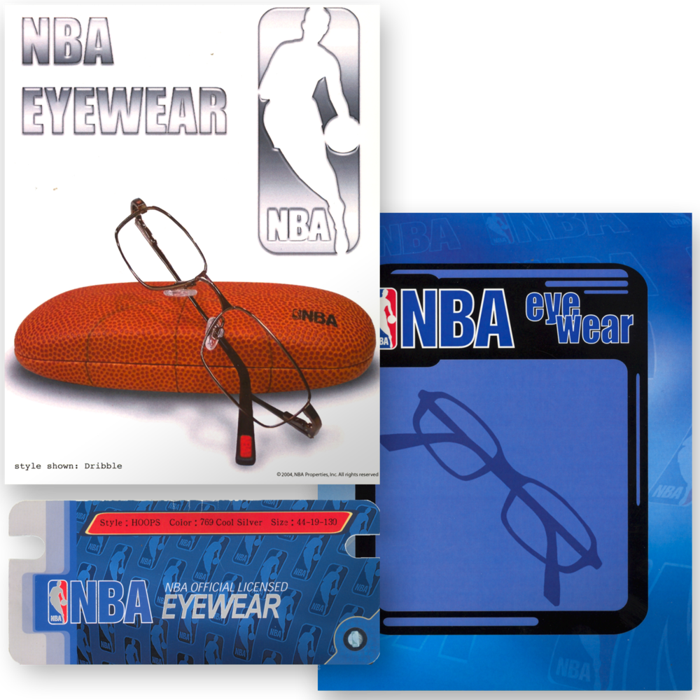 NBA Eyewear Promotional Materials and Packaging