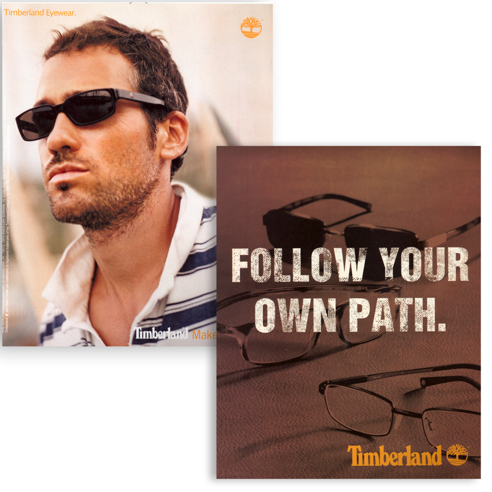 Timberland Eyewear Trade Advertisement