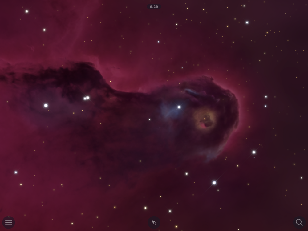Before: Elephant Trunk nebula region of IC 1396