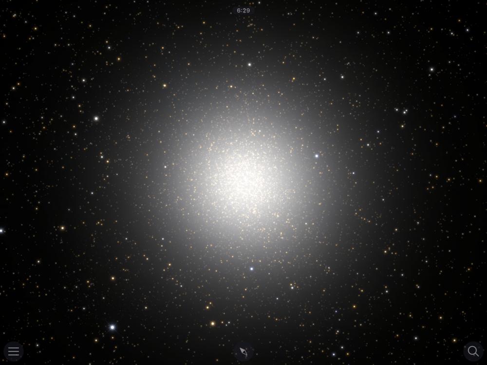 Before: globular cluster Omega Centauri