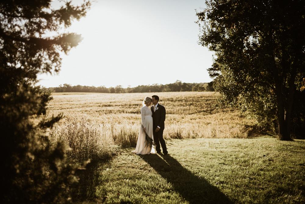 Bride + Groom | Modern Farm Wedding at Morton's Grove