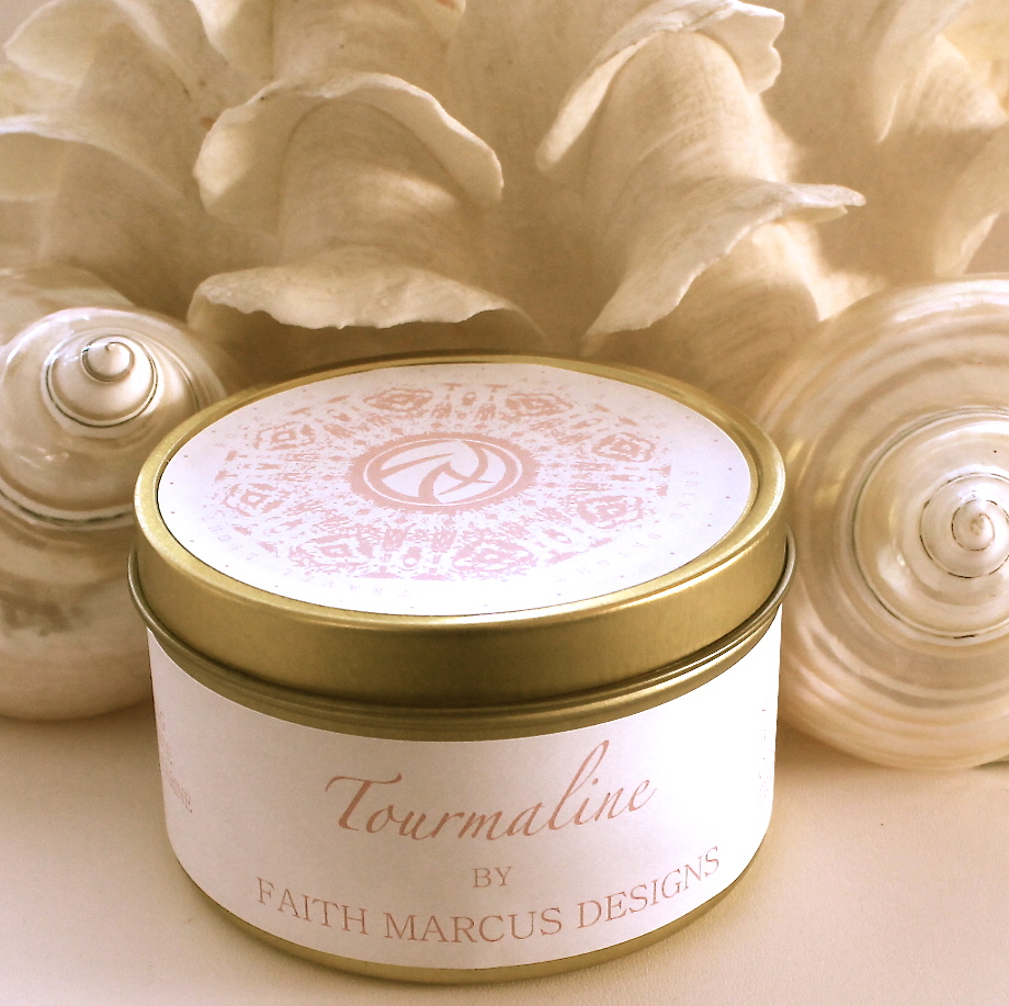 Gemstone Inspired Soy Candle Tin, 8 ounce, your choice of scent from Faith Marcus Designs. Receive this as one of your gifts when you spend $200 or more