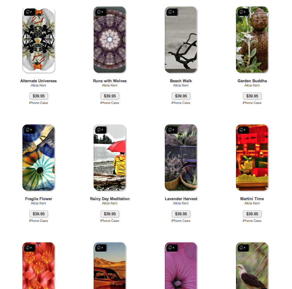 One lucky shopper will receive their choice of mandala art by Alicia Kent for their smart phone!
