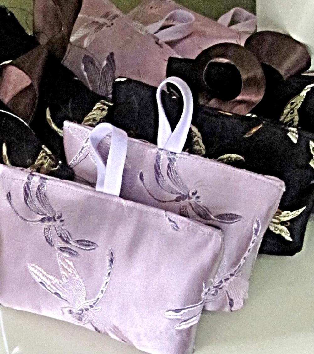 Lavender filled silk sachets with homegrown organic botanicals by Joy Silk, one of your gifts when you spend $200 or more