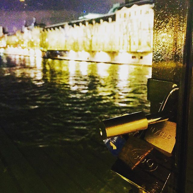 Goodnight Paris. You were great, really great. Kept this locked tight until next time. #loveyoumeanit #moncoeur #howwedo #❤️