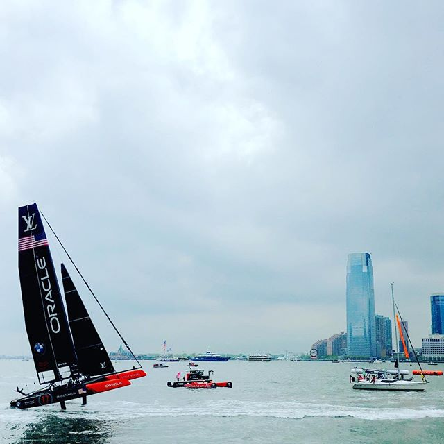 Not a bad showing oracle team. Let's button this up in the finals tomorrow. #americascup2016 #luisvuittoncup  #howwedo #jimmyspithill #oracleteamusa #thisisgoodshityo #i❤️⛵️