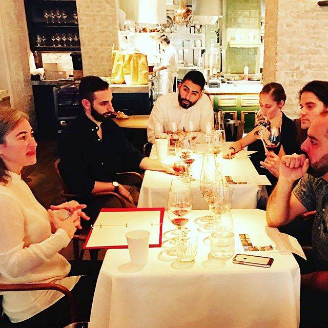 Wine class with Maria Jose López de Heredia. Always a pleasure to share your table. @lecoucou_nyc #teamcoucou #lopezdeheredia @davidbowlerwine
