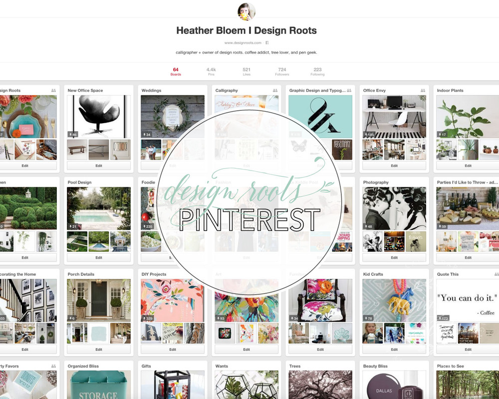Design Roots Pinterest Boards