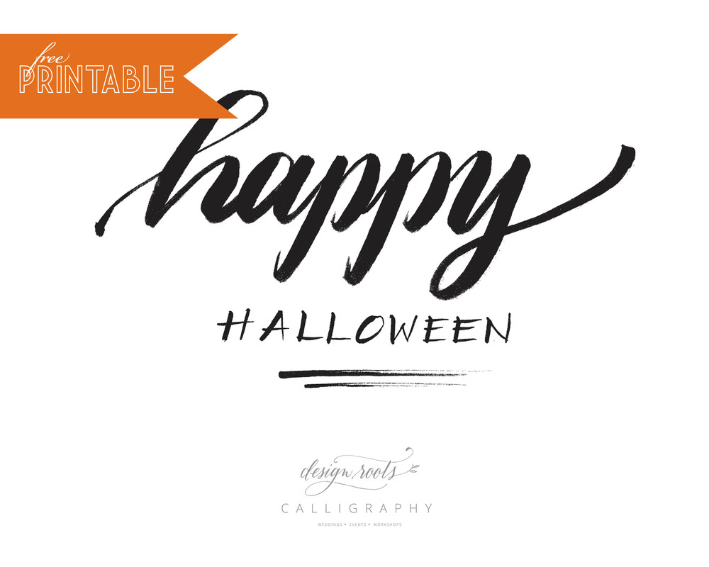 design roots halloween printable
