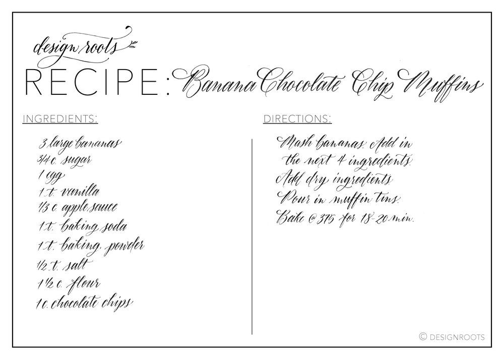banana chocolate chip recipe printable