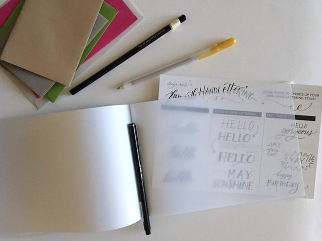 designroots hand lettering kit