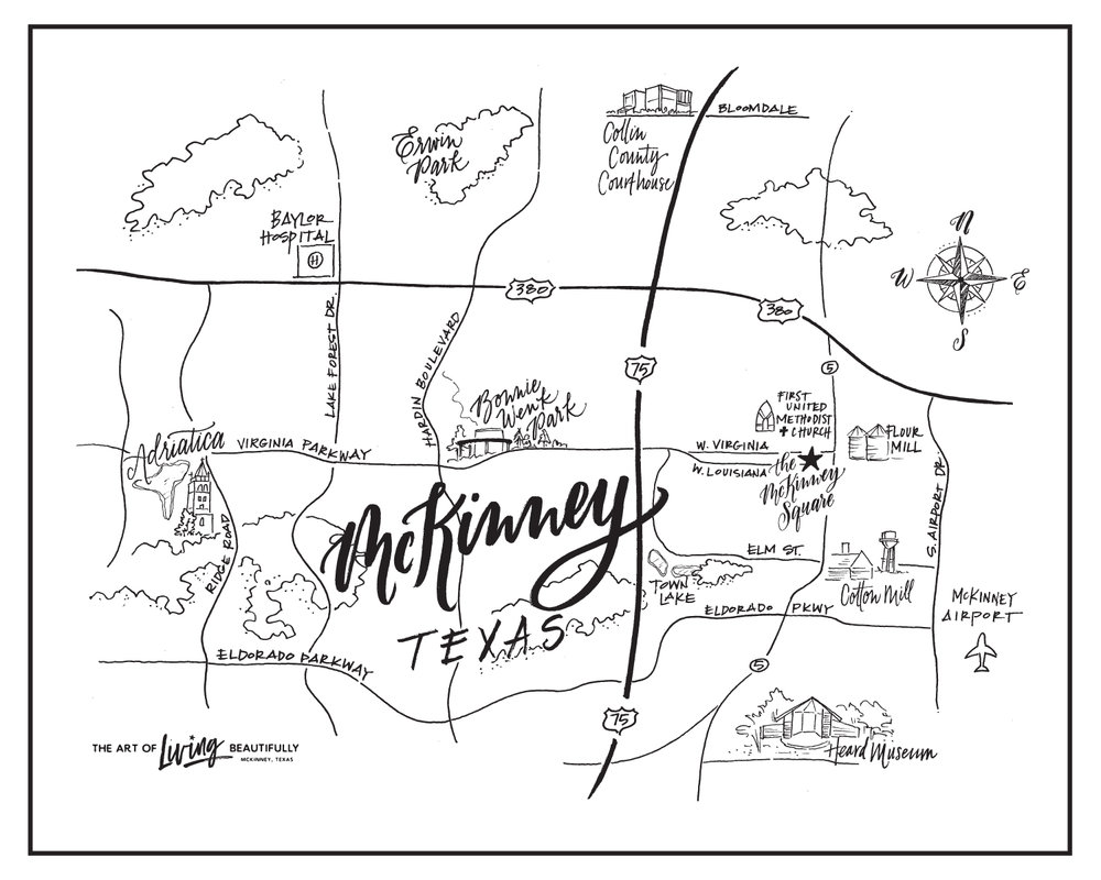 McKinney Map Sketch via Design Roots
