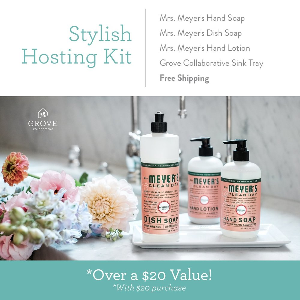 grove collaborative free hostess gift set