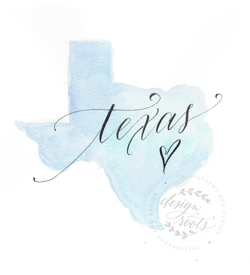 texas watercolor designroots