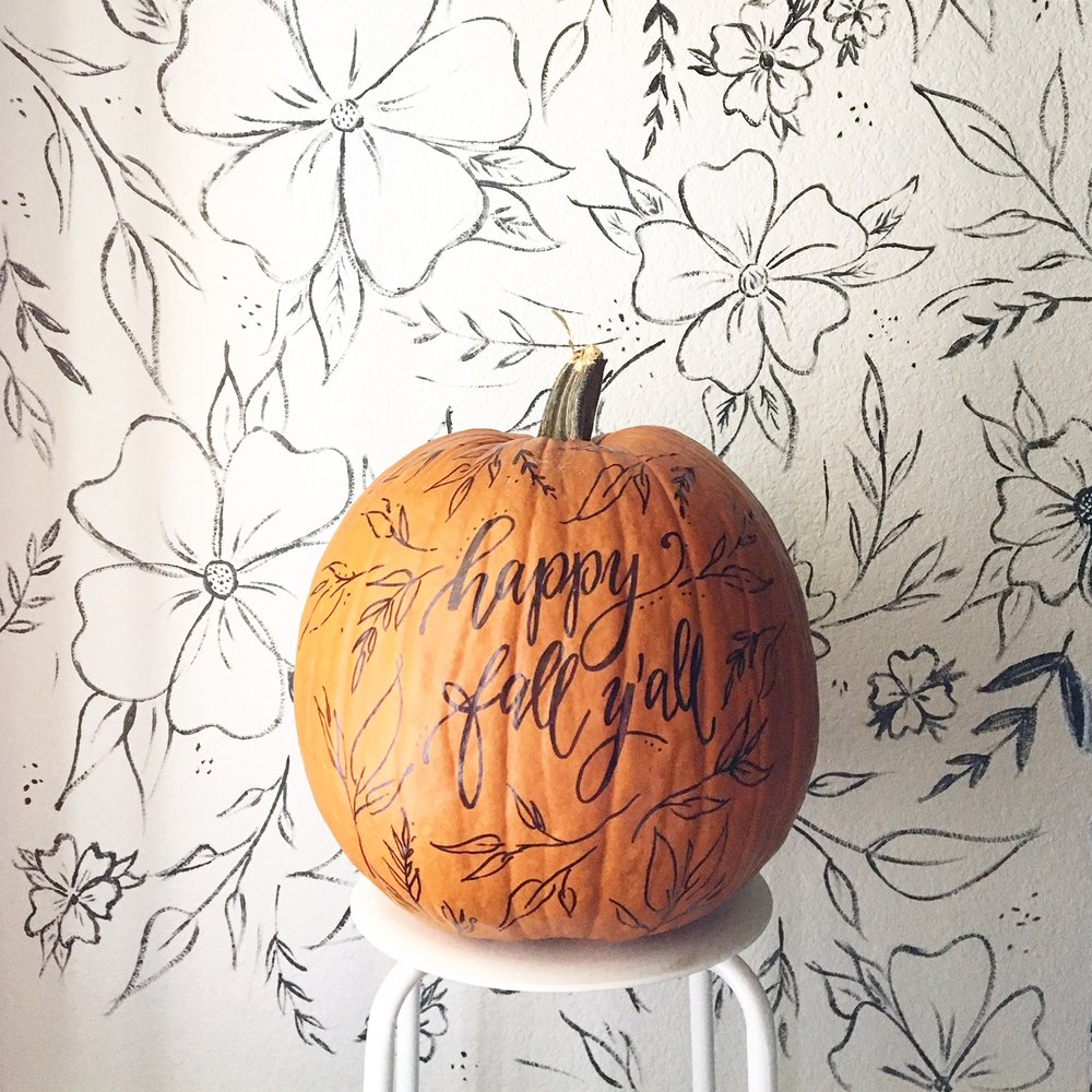 design roots floral pumpkin