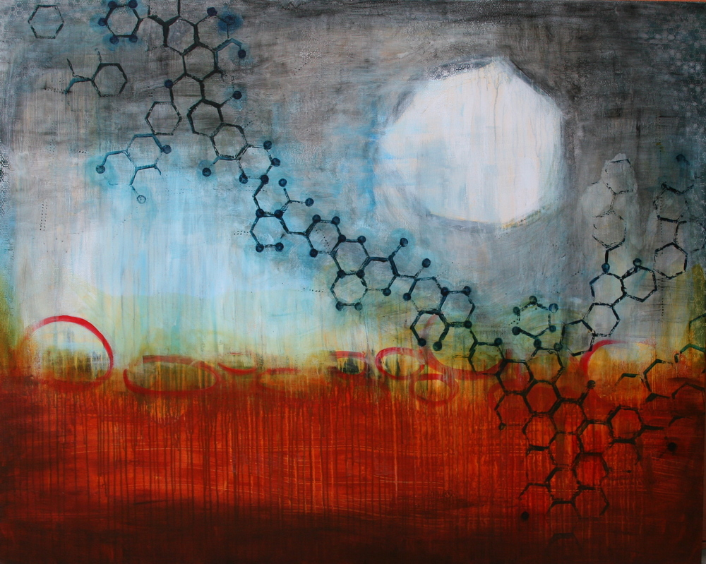 Formation, Mixed Media on Canvas, 48x60, 2011