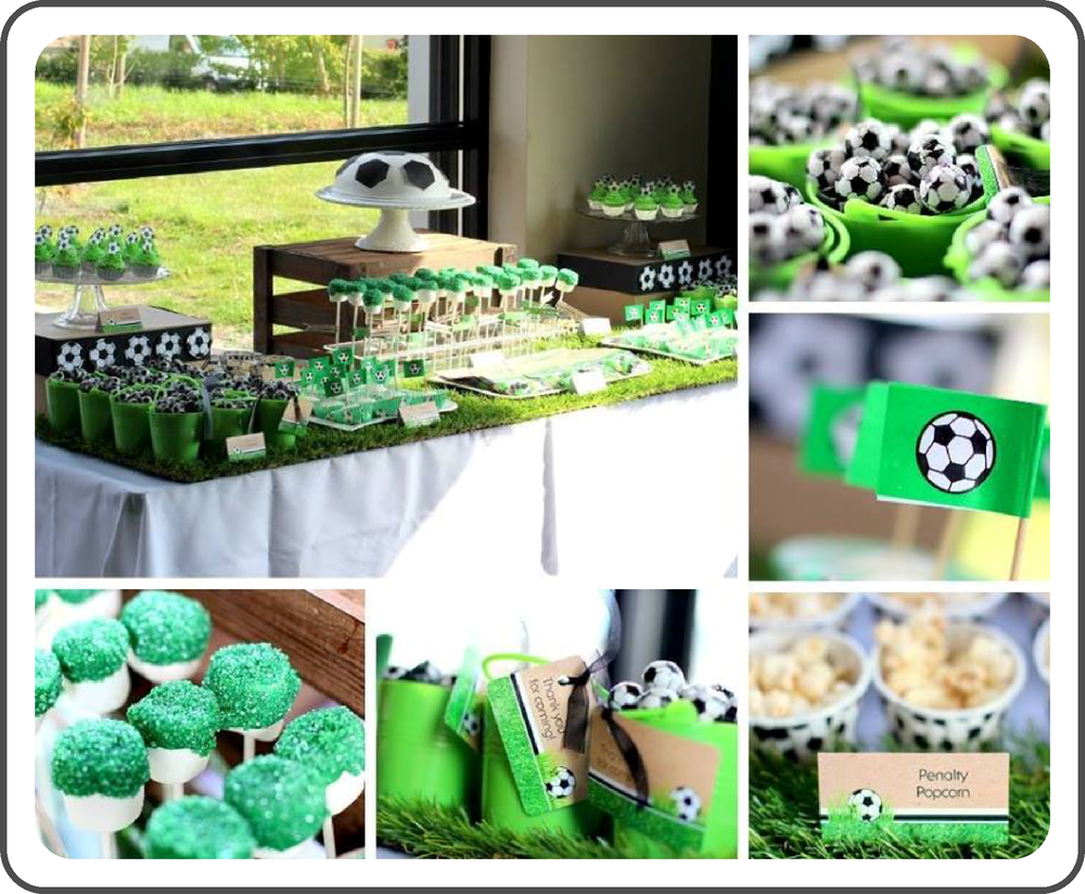 Party of the month: Green & Black Football Party by The Little Party Company