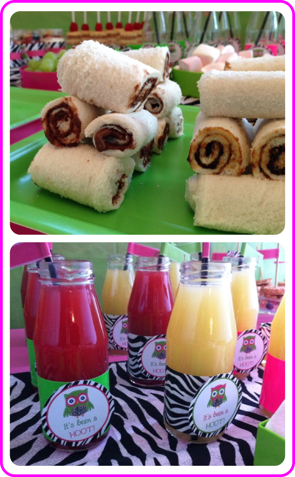 Nutella Sandwich Sushi Rolls Fruit Smoothies